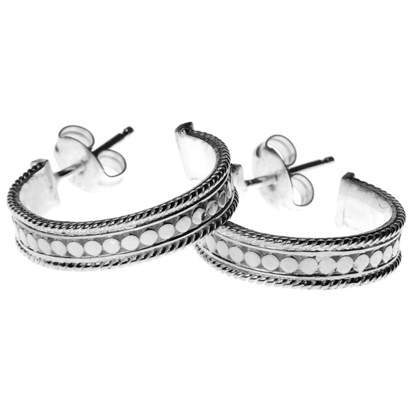 2c7b8a73322fc Anna Beck Small Sterling Silver Hoop Post Earrings Boutique